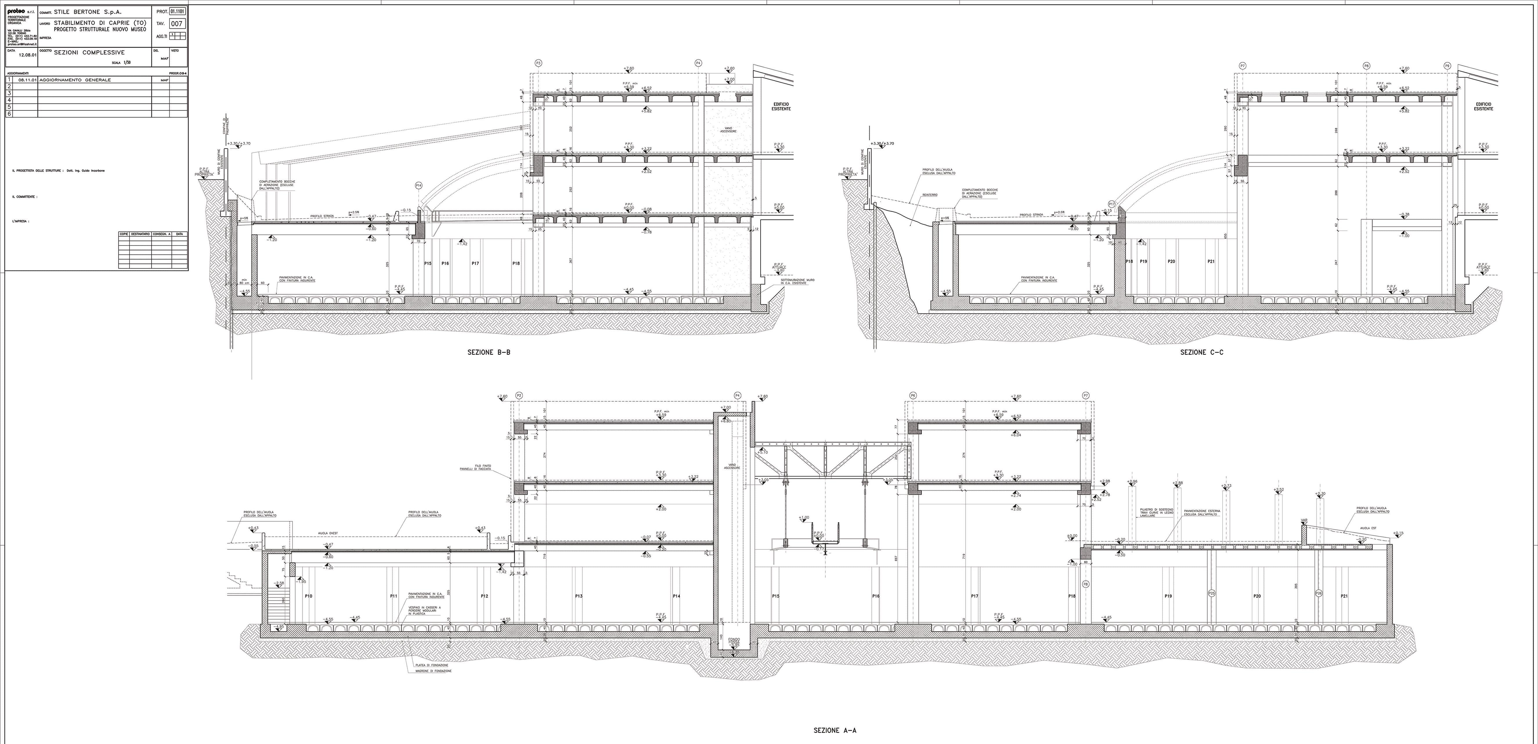 Museo stile bertone a caprie proteo - Costo ascensore interno 1 piano ...