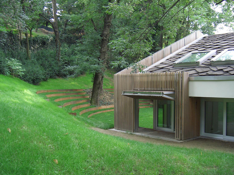 Ristrutturazione di villa in collina a torino proteo for Piani di serra in collina